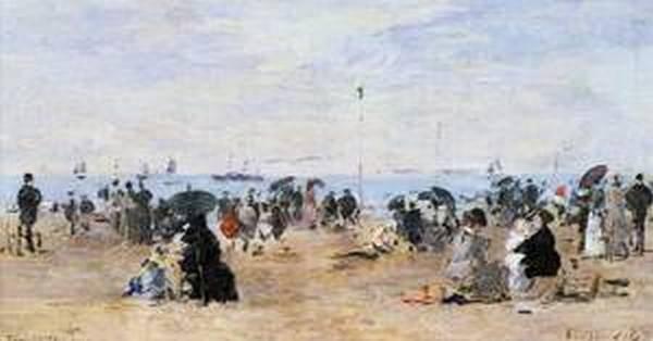 Trouville Beach Scene1 1881